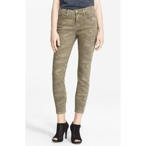 Current/Elliott Camo Stiletto Skinny Ankle Jeans